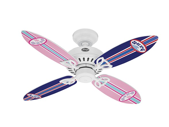 Hunter 25695 Bayport 44-inch Ceiling Fan, with Surfboard Blades