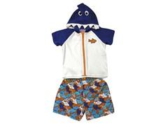 Blue Shark Swimsuit Set (24M-2T)