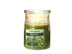 3 LED Wax Jar Flameless Candle Green 3.5x5
