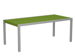 MOD Dining Table, Silver/Lime