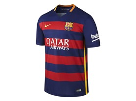 Nike FC Barcelona Home Soccer Jersey 15/16 Large Adult