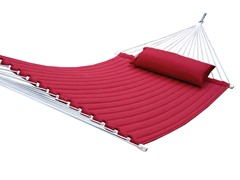 Quilted Acrylic Hammock, Chili Red