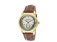 White/Silver Dial Brown Leather Watch
