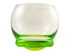 Bell Wobble Glass: Set of 6- Multiple Colors