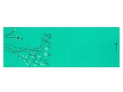 Teal Funky Flowers Yoga Mat, 5mm