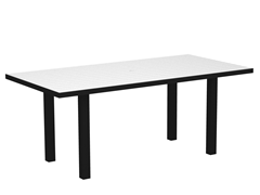 Euro Dining Table, Black/White