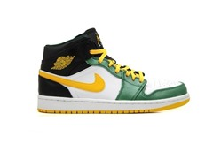Jordan 1 Mid - White/Yellow/Green