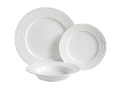 Gusto 12-Piece Dinnerware Set - White