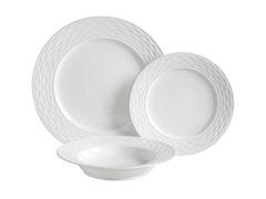 Gusto 12-Piece Dinnerware Set - White