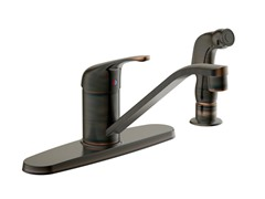 Faucet with Side Sprayer, Brushed Bronze