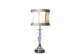 "Brass amd Crystal 27"" Table Lamp"