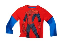 Spiderman Long Sleeve Tee - Red (2T-4T)