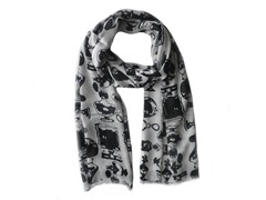 Kitara Picture Scarf Black & White