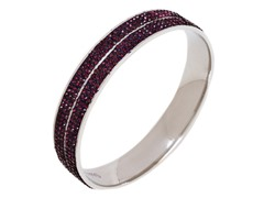 Stainless Steel 2-Rows Crystal Bangle