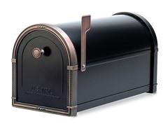 Coronado Mailbox, Black with Antique Copper