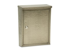 Laguna Locking Mailbox, Antique Pewter Hammered