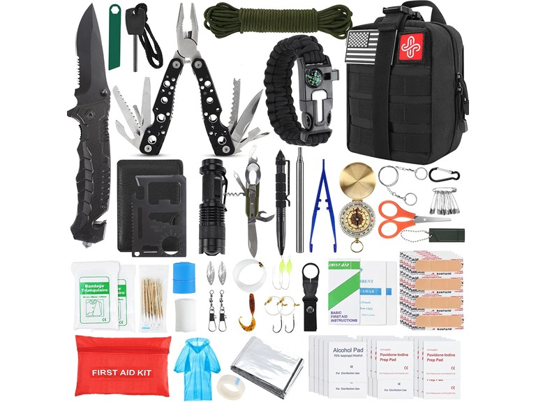 Kosin 100 Pc Survival Gear and Equipment