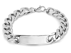 Center ID Tag Stainless Steel Bracelet