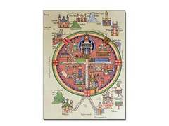 Map of Jerusalem and Palestine' Canvas Art- 2 Sizes