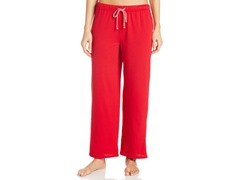 Nautica Sleepwear Women's Mini Anchor Print Pant, Red