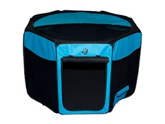 Octagon Pet Pen w/Removable Top-Ocean Blu