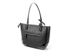 Coach Poppy Signature Metallic Small Tote, Black