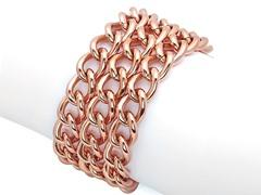 Triple Row Cuban Link Bracelet