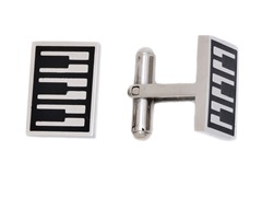 Stainless Steel Piano Cufflink