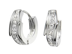 Sterling Silver Sim. Diamond Channel