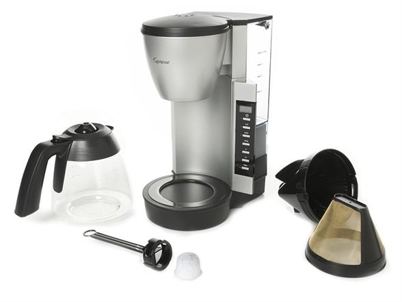 Ovastar Drip Coffee Maker Black & Silver : Capressso 10-Cup Drip Coffeemaker-Silver