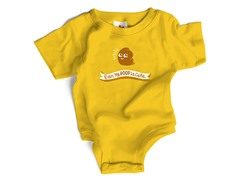 "Wrybaby ""Poop is Cute"" Yellow Bodysuit"