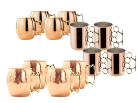 Copper Moscow Mule Mugs - 3 Styles