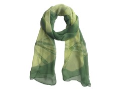 Tie Dye Wrap Olive Green & Yellow
