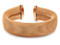 18kt Rose Plated Adjustable Mesh Cuff