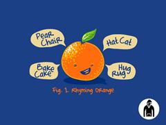 Rhyming Orange Kids PO Hoodie