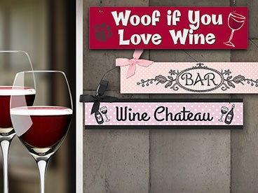 Random Corny Wine Signs