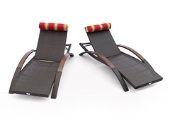 RST ARC Lounger w/ Pillow Set (2-Pack)