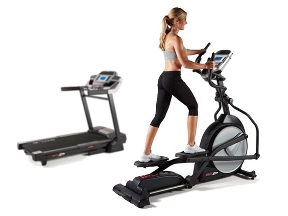 treadmill with elliptical in one machine