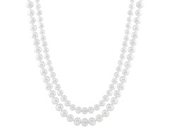 Long White Freshwater Pearl Necklace