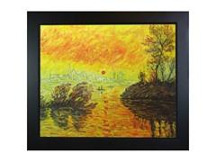 Monet - Le Coucher Du Soleil La Seine