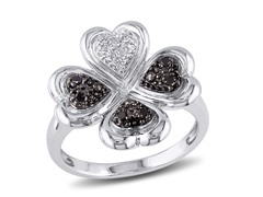0.10cttw Black Diamond Ring