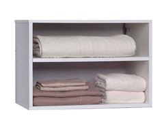 White 2-Shelf Closet Organizer