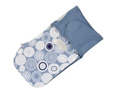 French Terry Swaddle - Blue