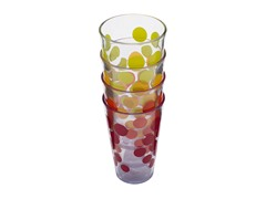 Assorted Dot Dot 19oz HiBall Tumblers S/4