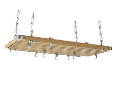 "Rectangular Pot Rack 36"" x 18"" - Wood"