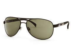 Black/Dark Green Aviator 23 Sunglasses