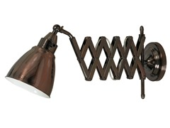 Accordion Swing Arm Lamp- Copper Bronze Finish