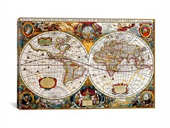 Map of The World ca 1630 26x18