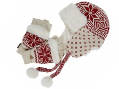 MUK LUKS®Trapper Hat with Glove Set, Red