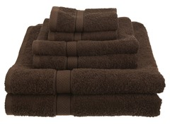 Pinzon Egyptian Cotton 725GSM 6Pc Towels-Cocoa